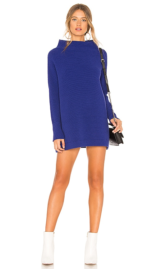 Free People Ottoman Slouchy Tunic Sweater In Blue Revolve