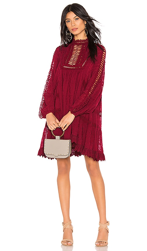 9cc486e3c002e Free People Venice Mini Dress in Raspberry | REVOLVE