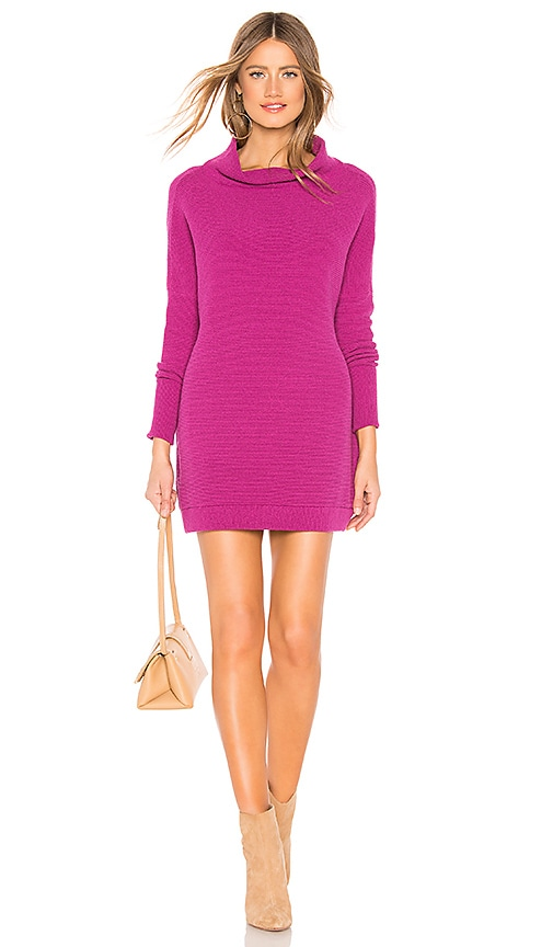 Free People Ottoman Slouchy Tunic Sweater Dress In Mulberry Revolve