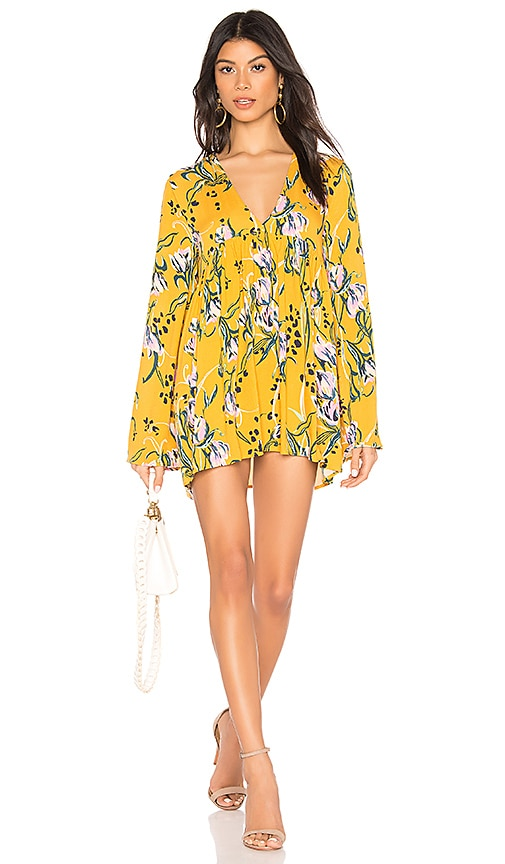 3d2a0ea41dc Free People Bella Printed Tunic in Yellow Combo | REVOLVE