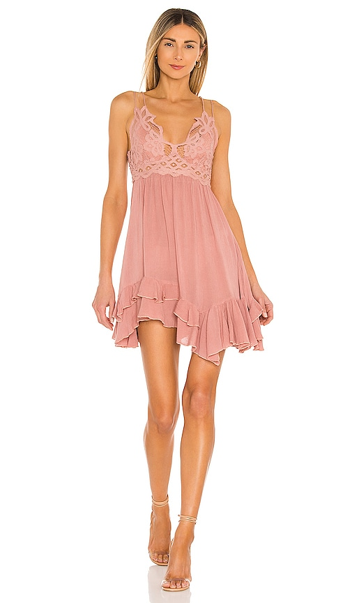 accd455911 Free People Adella Slip Dress in Rose