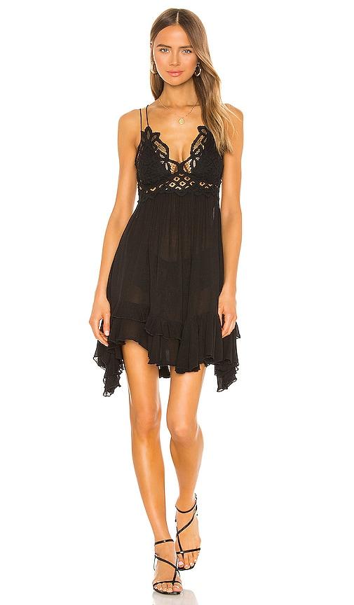 Free People Adella Slip Dress in Black | REVOLVE