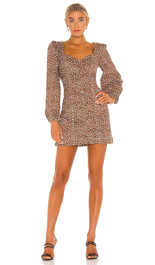 Free People Call Me Cord Mini Dress in Black Combo | REVOLVE