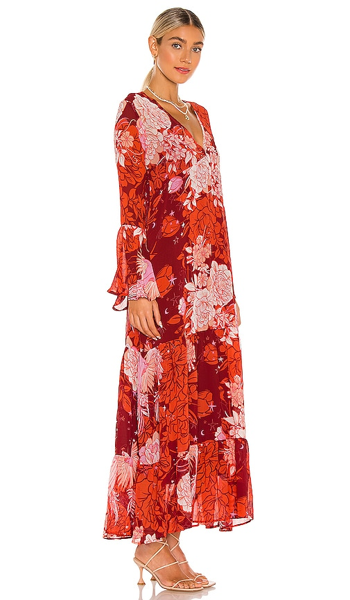 FREE PEOPLE Linings MOROCCAN ROLL MAXI DRESS