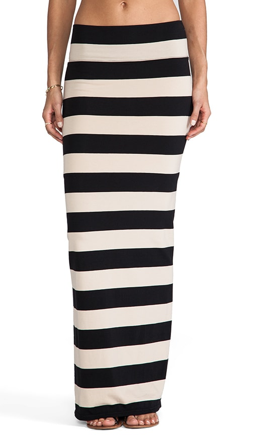 Stripe Column Skirt