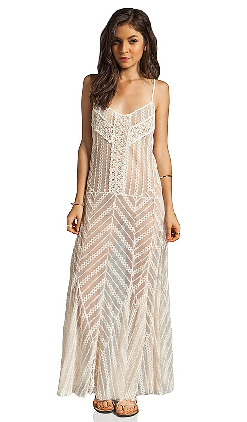 Meadows of Lace Slip Maxi Dress