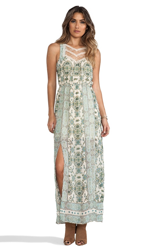 Moroccan Printed Maxi Dress