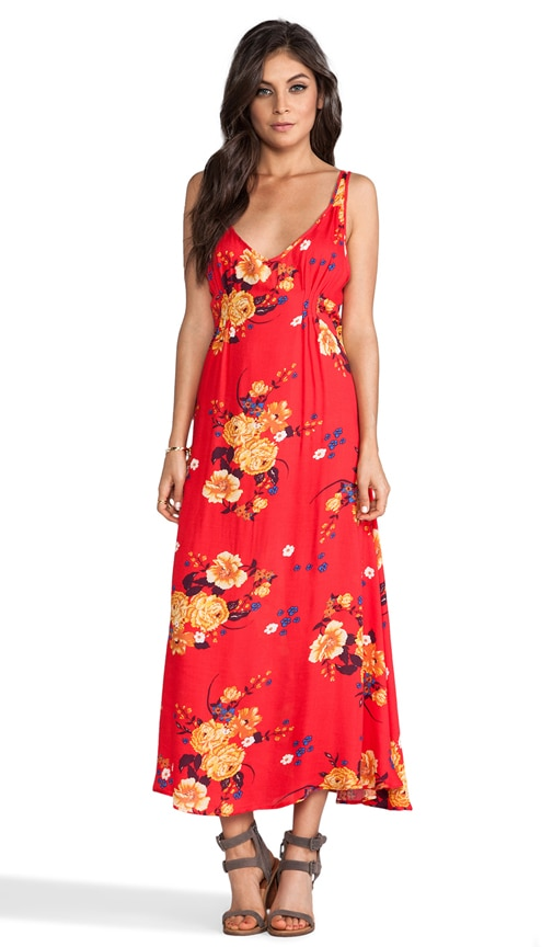 Printed Maxi Slip Dress