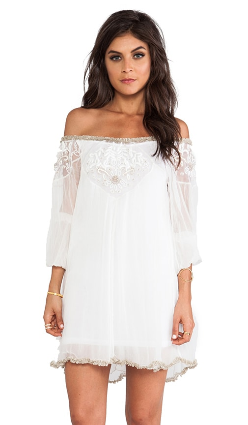 Embellished Off The Shoulder Tunic