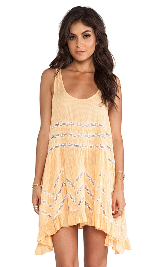 Voile & Lace Trapeze Dress