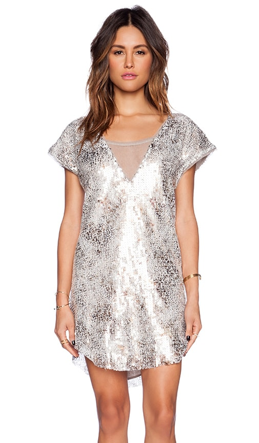 Free People Midnight Dreamer Dress in Ivory Combo