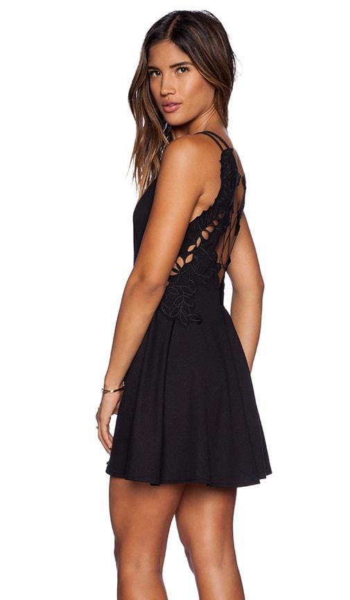 Free People Cha Cha Ponte Like A Dream Dress In Black Revolve