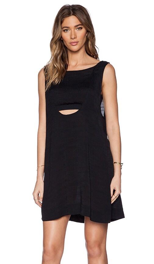 Free People Tropical 2fer Mini Dress in Black