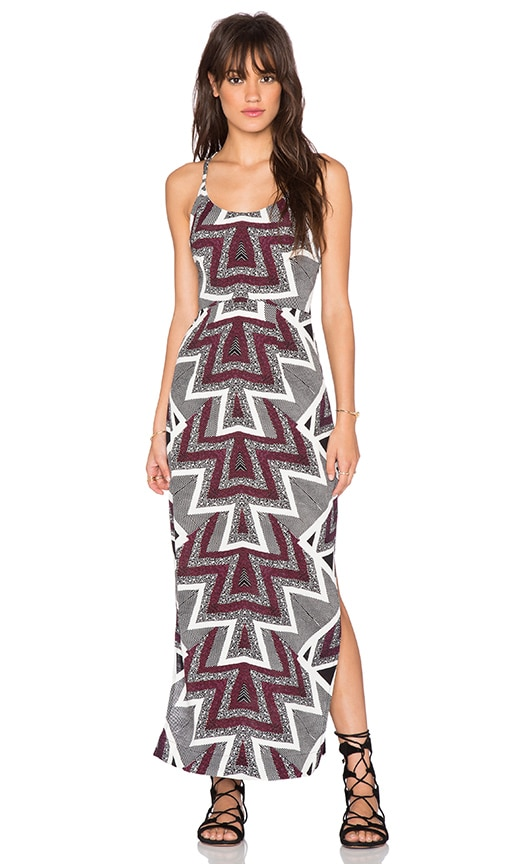 Free People Slubby Crinkle Serves You Right Printed Maxi Dress in 98