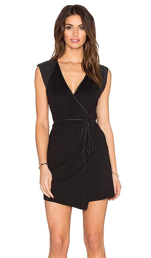 Free People Lindsay Wrap Dress in Black