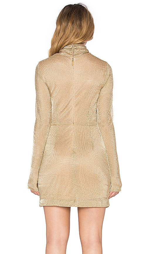 Free People Mercury Bodycon Dress In Gold Low Cost