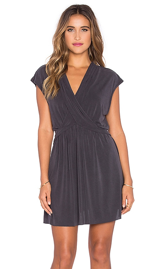 Free People Cupro Dress in Charcoal