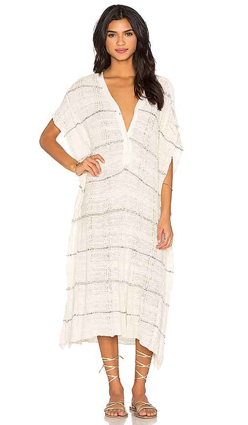 Free People Whispering Wind Poncho Dress in White