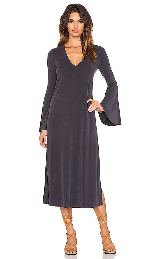 Free People A Fine Romance Dress in Charcoal