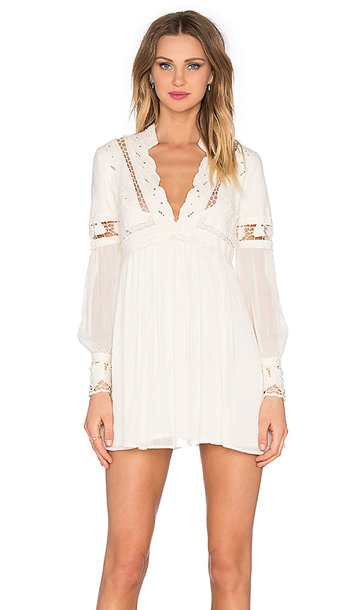 Free People In Dreamland Cutwork Dress in White