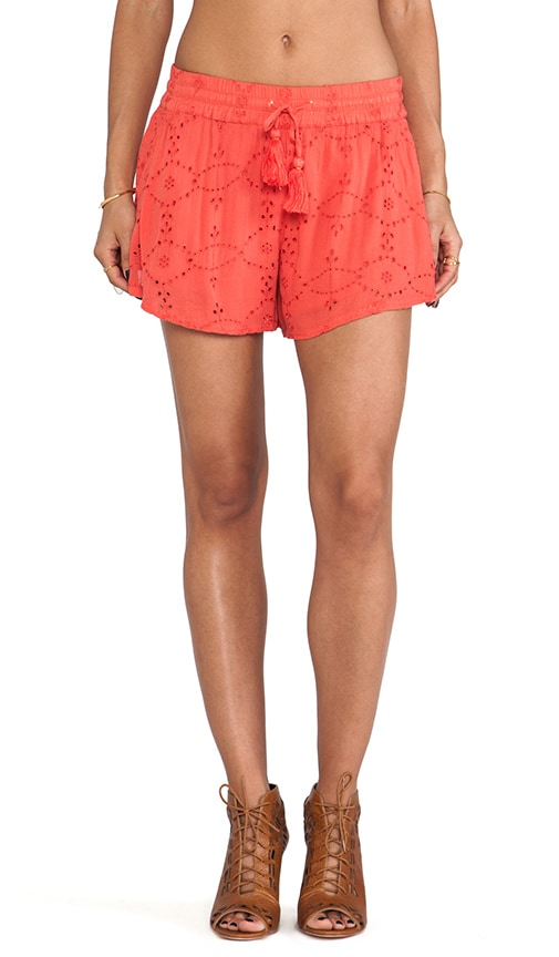 Eyelet Embellished Short