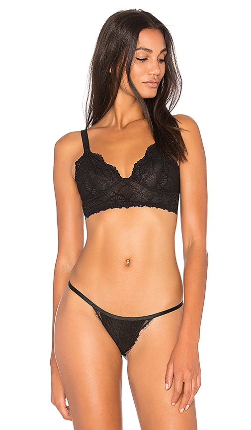 Free People Let Me Kiss You Soft Bra in Black