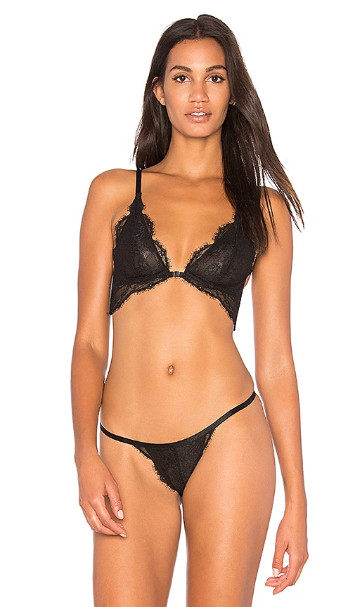 Free People You're So Great Underwire Bra in Black