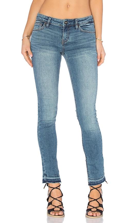 Free People Low Rise Side Slit Jeans in Dark Denim