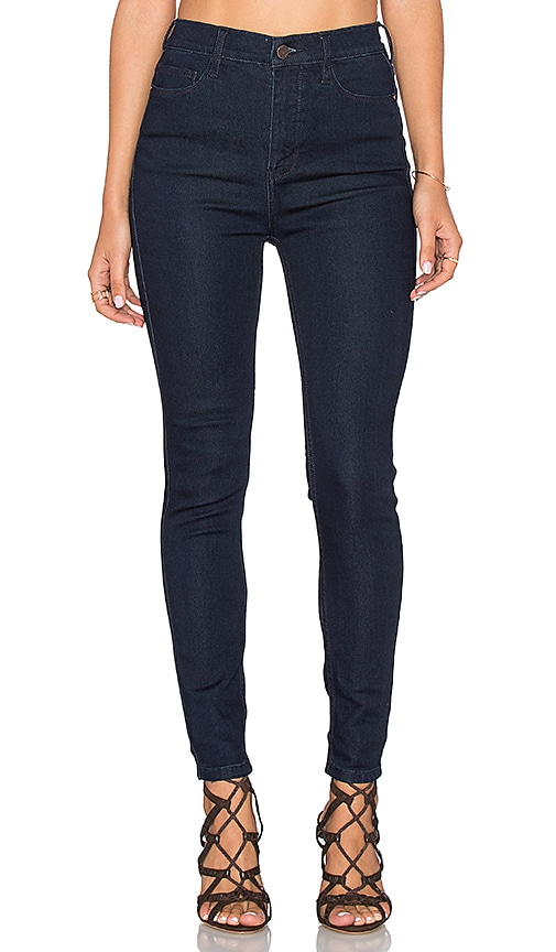 Free People Cyndi High Rise Skinny Jean in Dark Denim