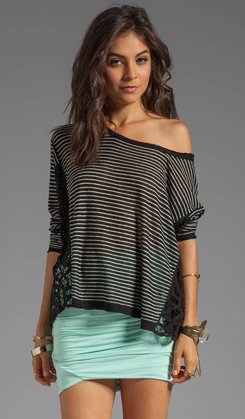 Striped Love Me Do Pullover