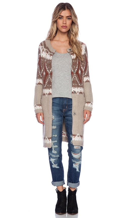 Free People Frosted Fairisle Cardigan in Natural Combo | REVOLVE