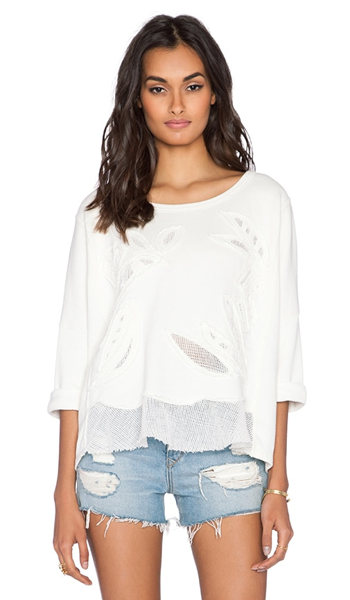 Free People Rainforest Pullover in Ivory