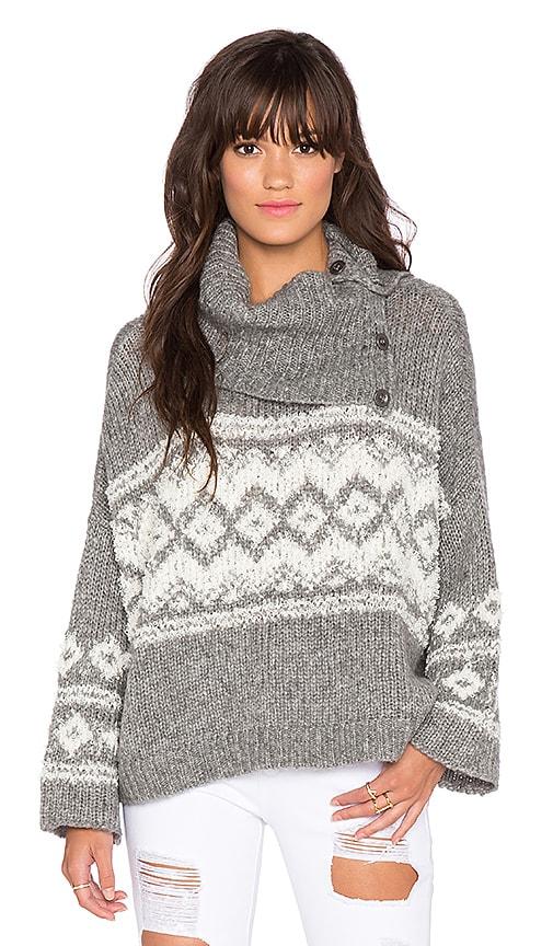 Fairisle Split Neck Sweater