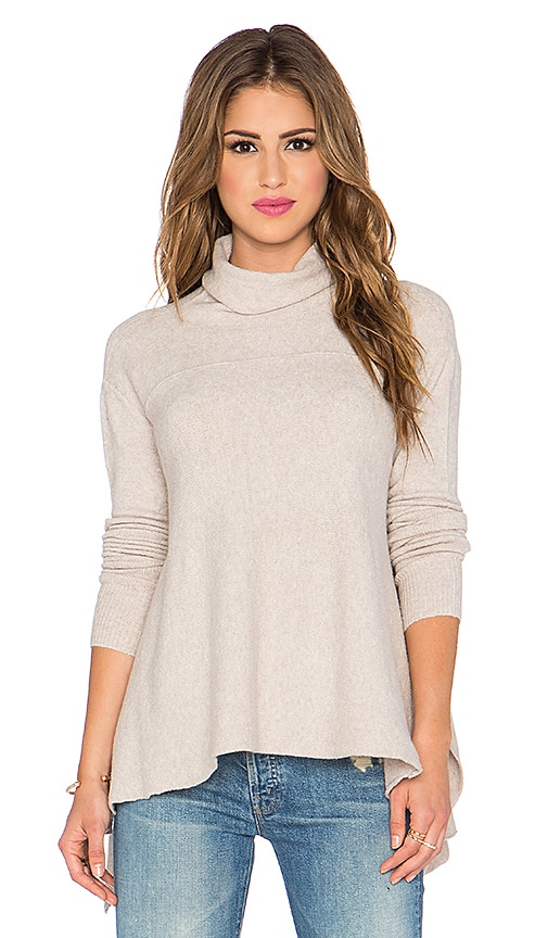 Free People Drape Drape Sweater in Oatmeal