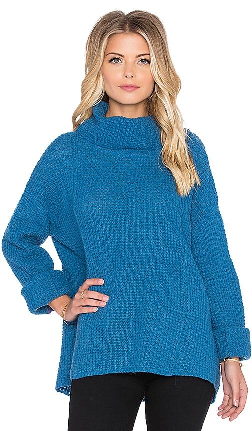 Free People Sidewinder Sweater in Blue