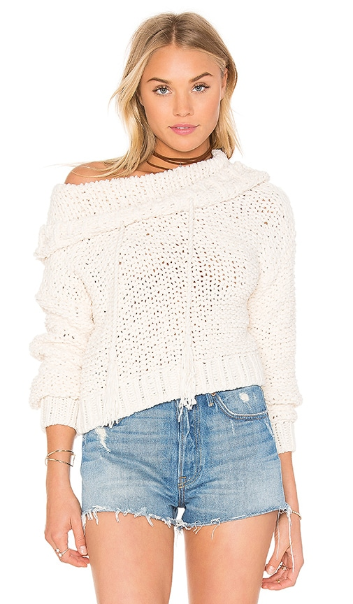 Free People Anemone Beach Sweater in Beige