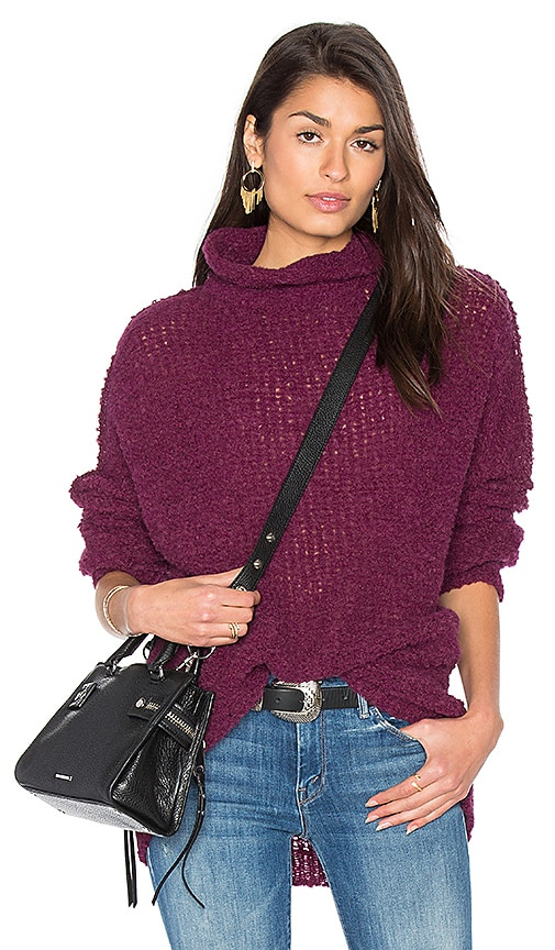 Free People She's All That Sweater in Wine