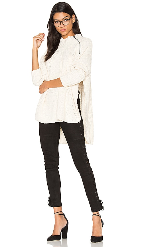 Free People Spin Around Poncho Top in White