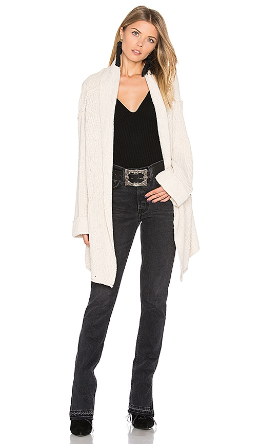 Free People Low Tide Cardigan in White