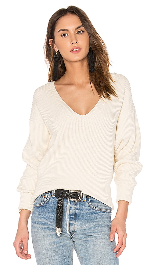 Free People Allure Pullover in White