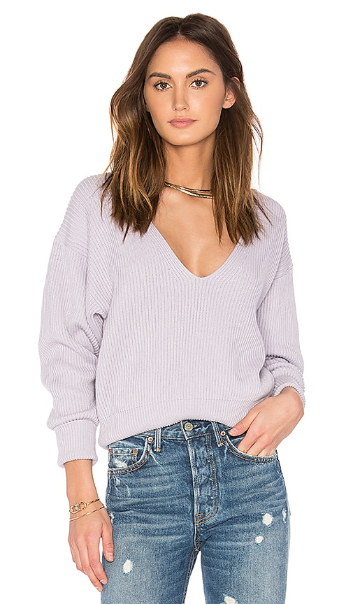 Free People Allure Pullover in Purple