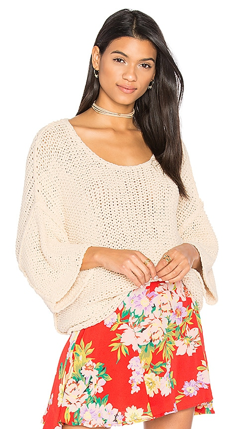 Free People Halo Pullover in Beige