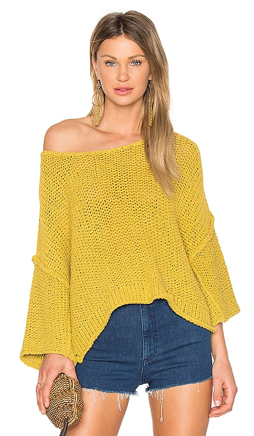 Free People Halo Pullover in Yellow