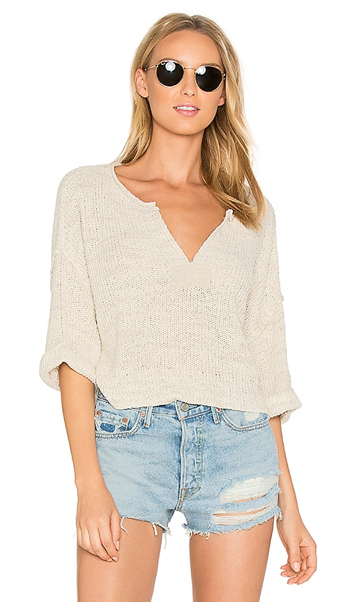 Free People Daybreak Sweater in White