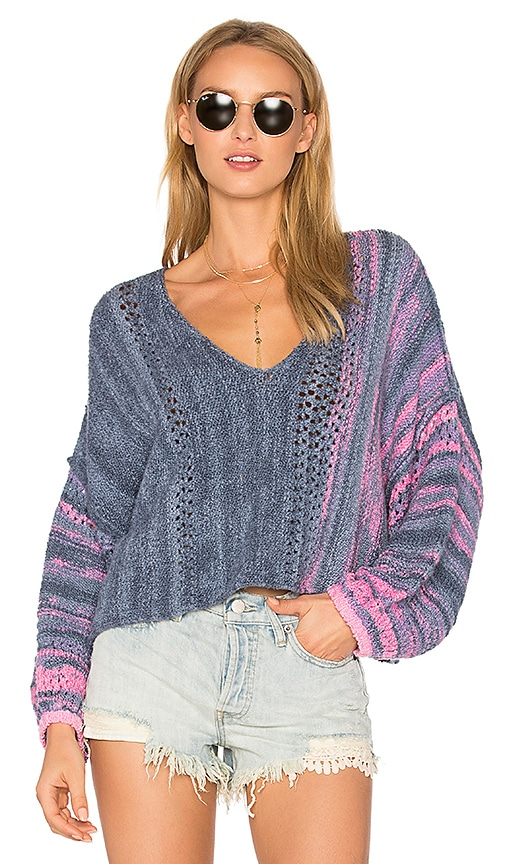 Free People Amethyst Sweater in Blue