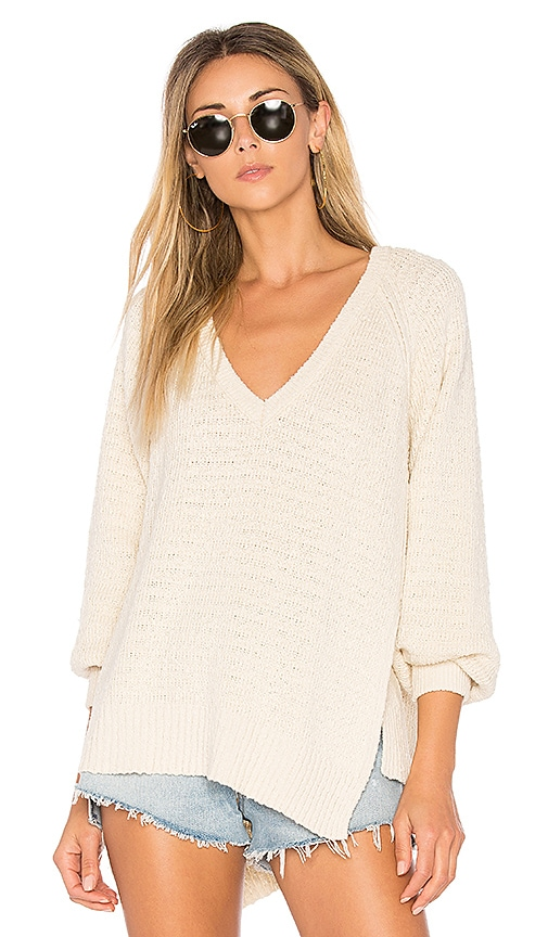 Free People West Coast Pullover in Cream
