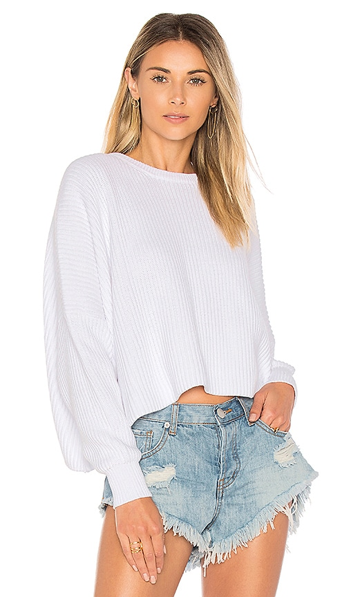 Free People Festival Pier Pullover in White