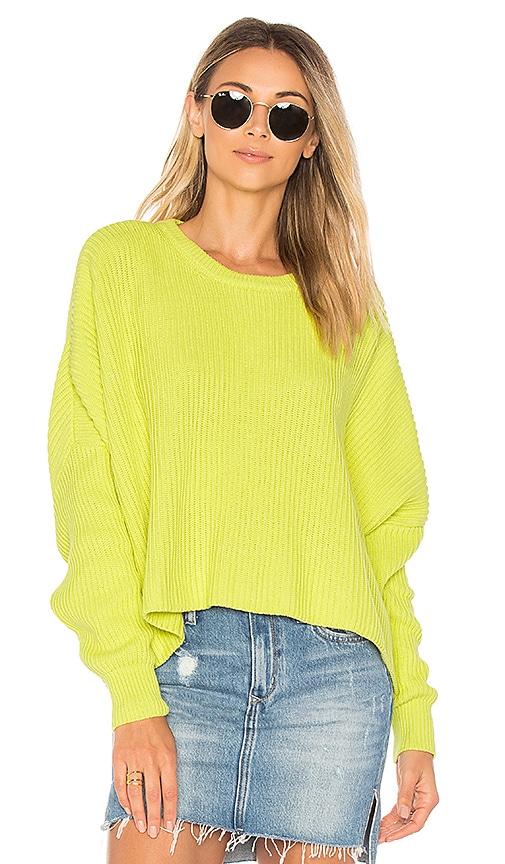 Free People Festival Pier Pullover in Yellow