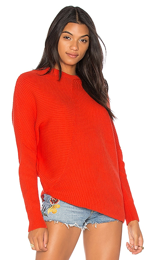 Free People Downtown Pullover in Red