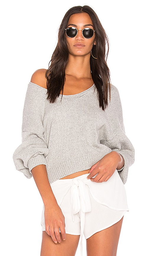 Free People Perfect Day Pullover in Gray